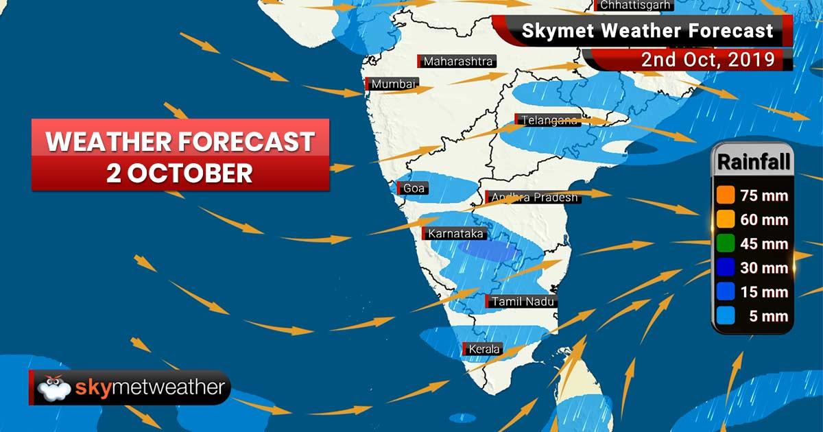 Weather Forecast Oct 2: Moderate rain in Prayagraj, Varanasi with Patna, Kolkata and Ranchi to see nearly dry weather