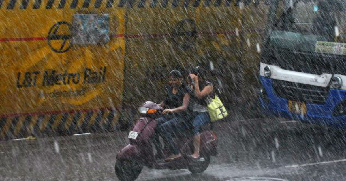 Showers in Hyderabad