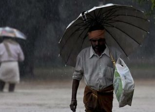 Showers in Tamil Nadu