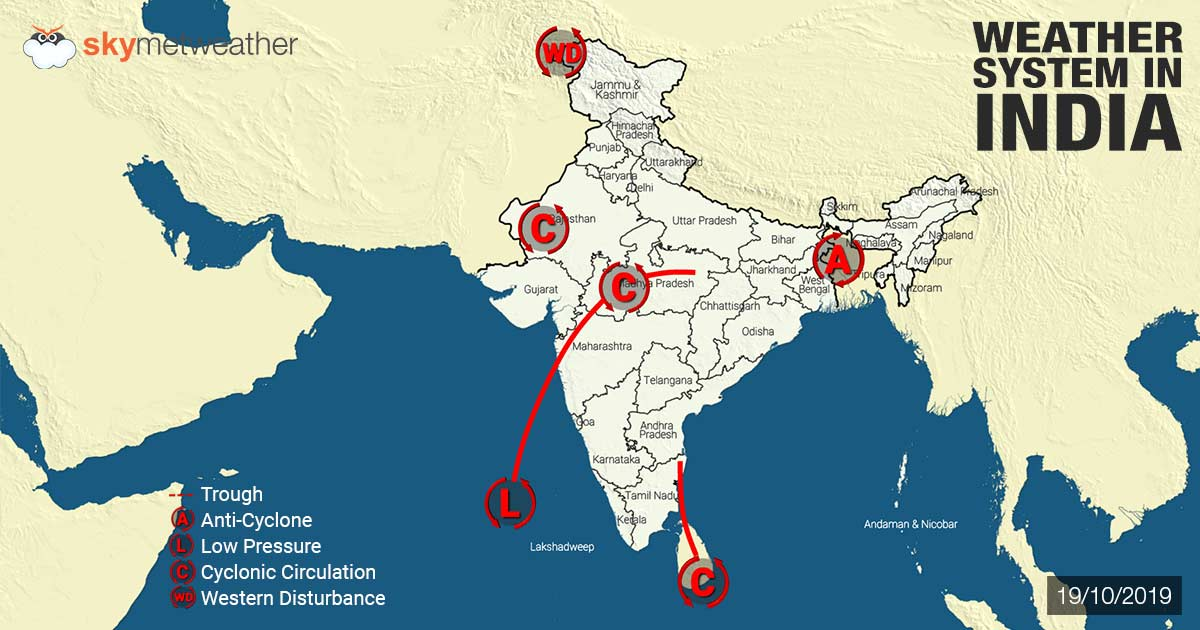 Weather Forecast for October 20 Across India