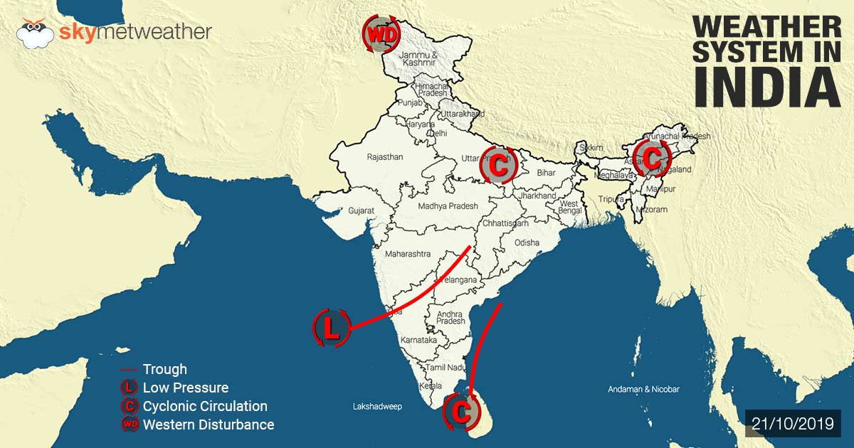 Weather Forecast for October 22 Across India