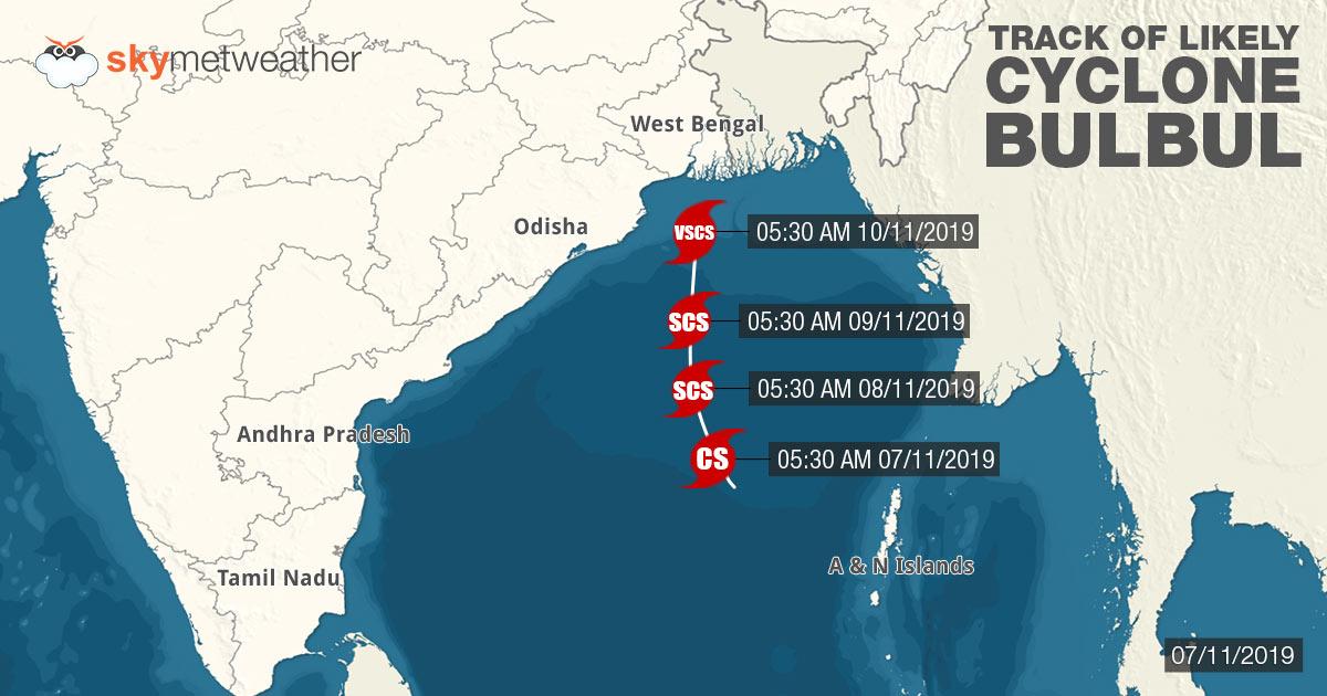 Track of Cyclone-Bulbul
