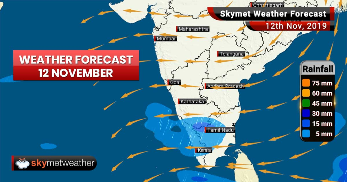 Weather Forecast Nov 12: Cyclone Bulbul dissipates, rain in Jaisalmer and Bengaluru, Delhi pollution to be severe again