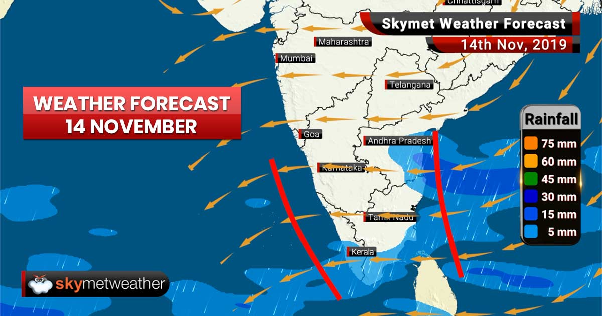 Weather Forecast Nov 14: Rains and snow forecast for Kashmir, Himachal and Ladakh