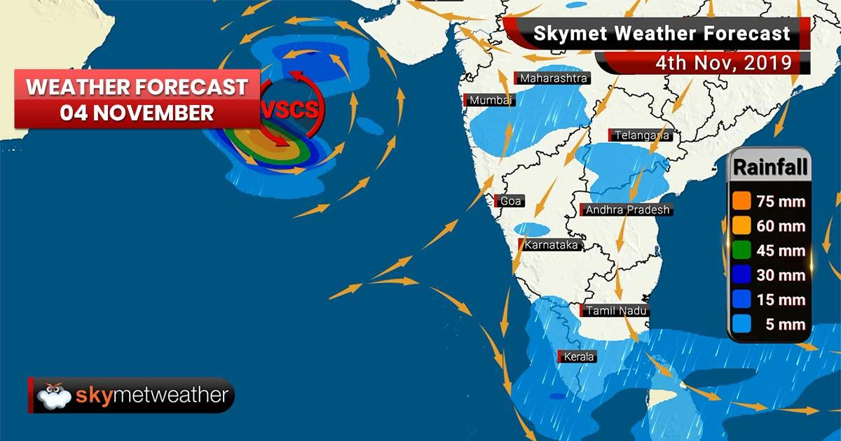 Weather Forecast Nov 4: Heavy rain in Andaman, Maha to batter Gujarat, Maharashtra