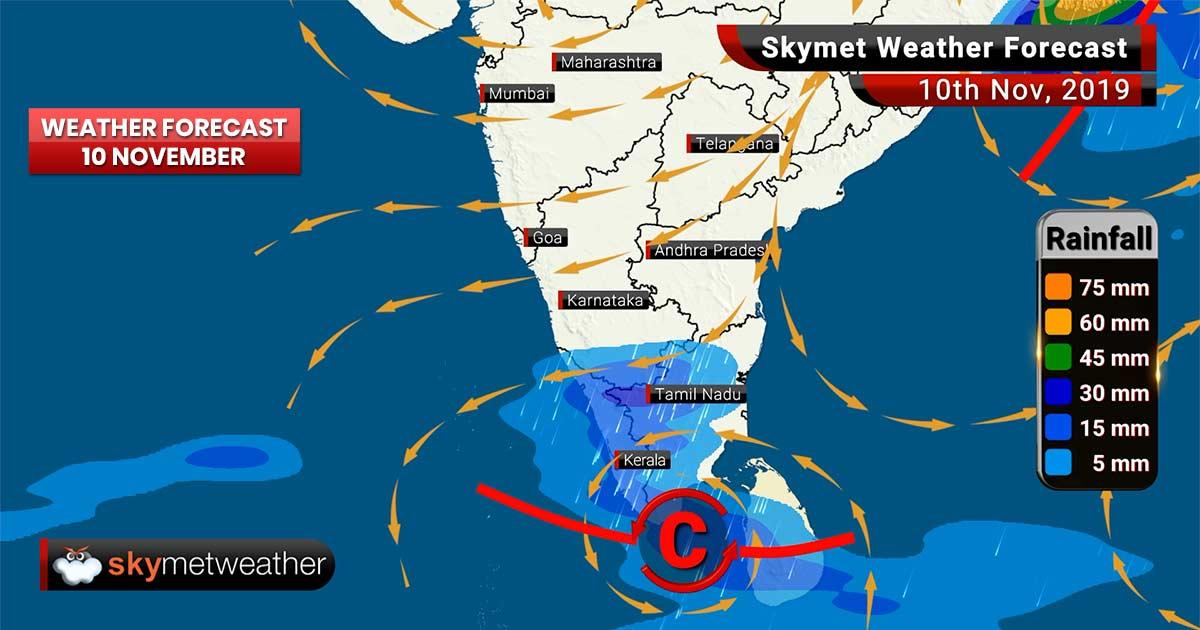 Weather Forecast Nov 10: Cyclone Bulbul weakens to a Deep Depression, rain in Assam, Kerala, TN