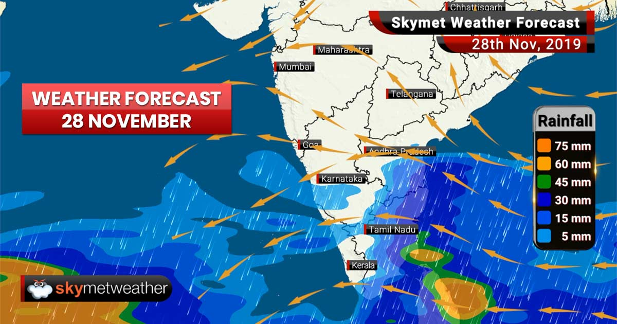 Weather Forecast Nov 28: Minimums to drop in Delhi, Punjab, Haryana, UP, moderate rain in TN