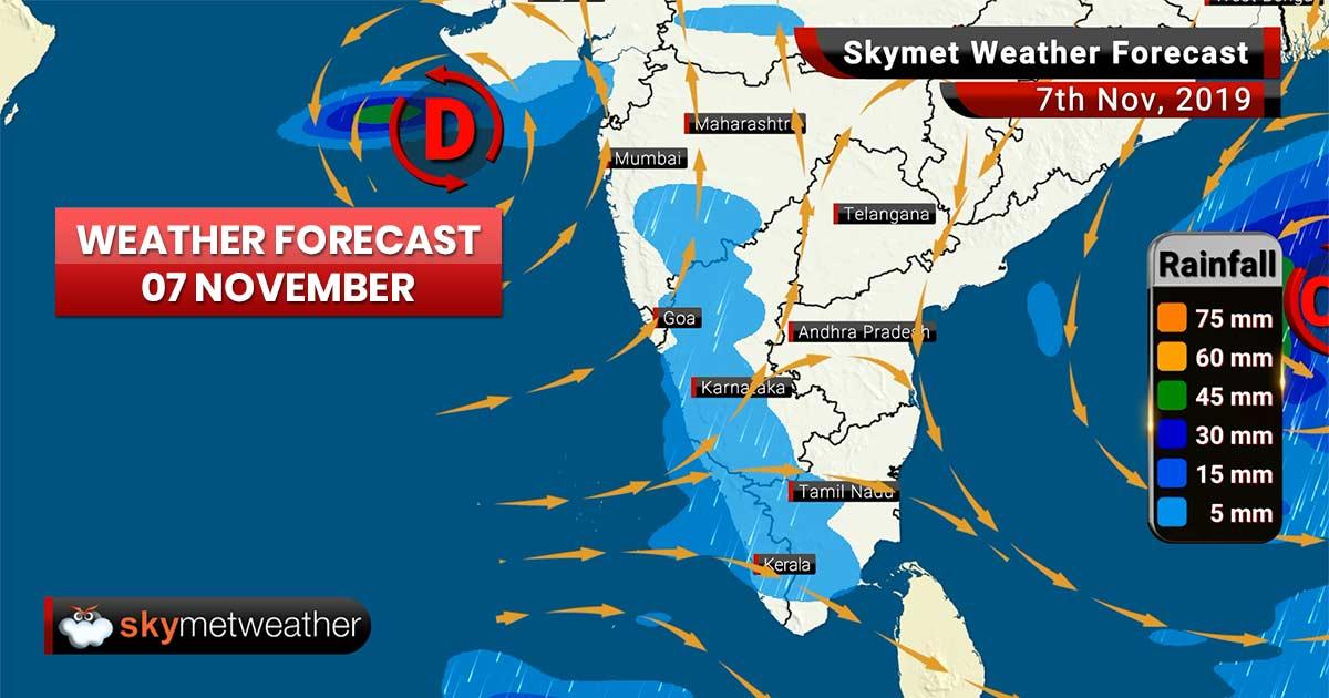 Weather Forecast Nov 7: Heavy rain, snow in Kashmir, Cyclone Bulbul to impact Odisha, WB