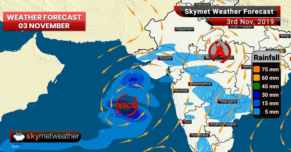 Weather Forecast Nov 3: Maha intensifies into a Very Severe Cyclone, Delhi AQI to improve