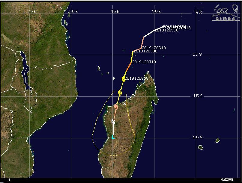 Cyclone Belna in Madagascar