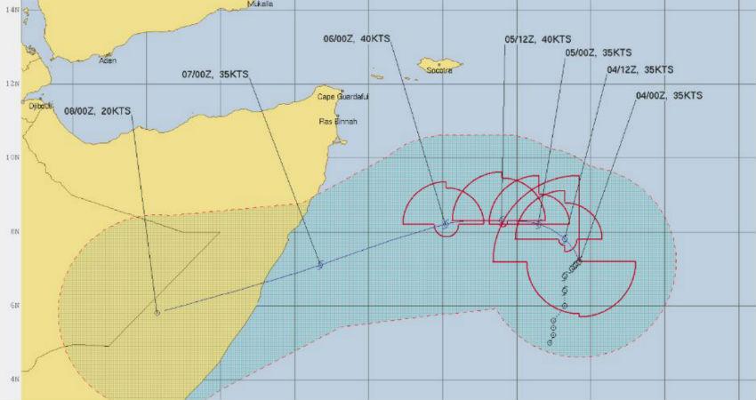 Cyclone Pawan in Arabian Sea