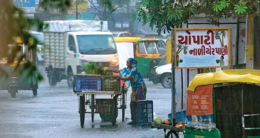 Rain in Gujarat during winters