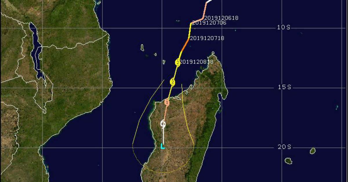 Cyclone Belna in Madagascar