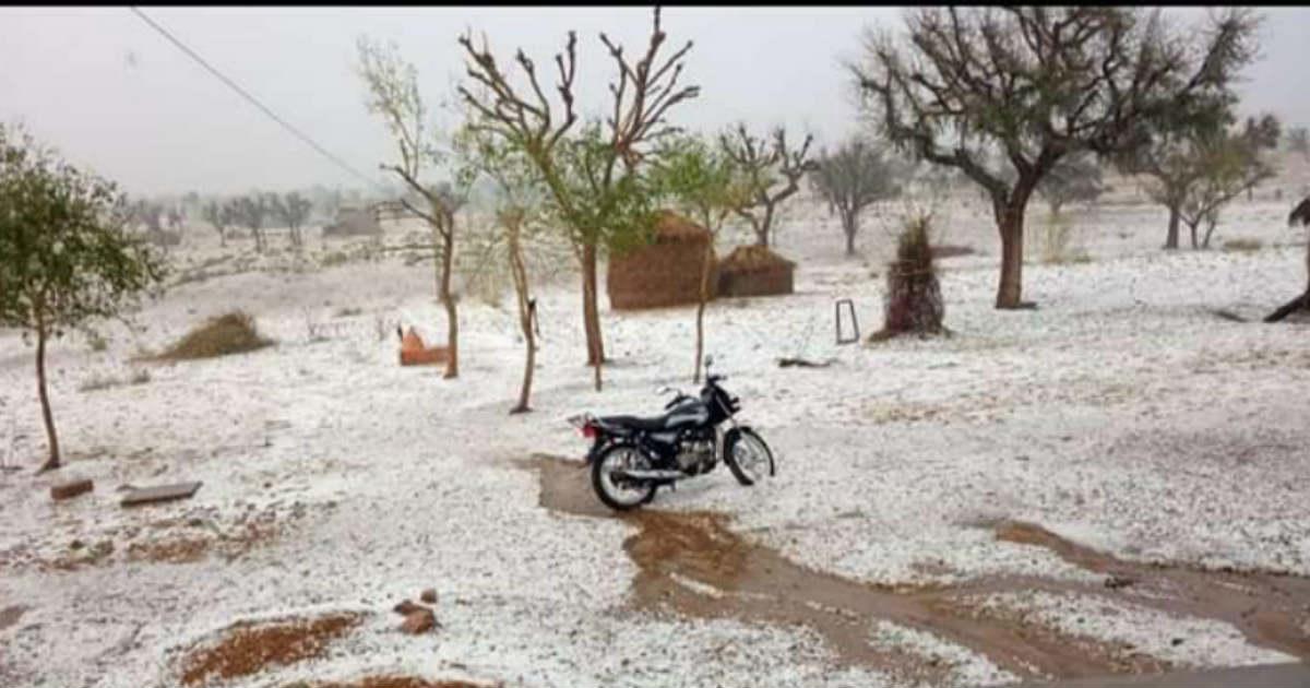 Hailstorm Rajasthan