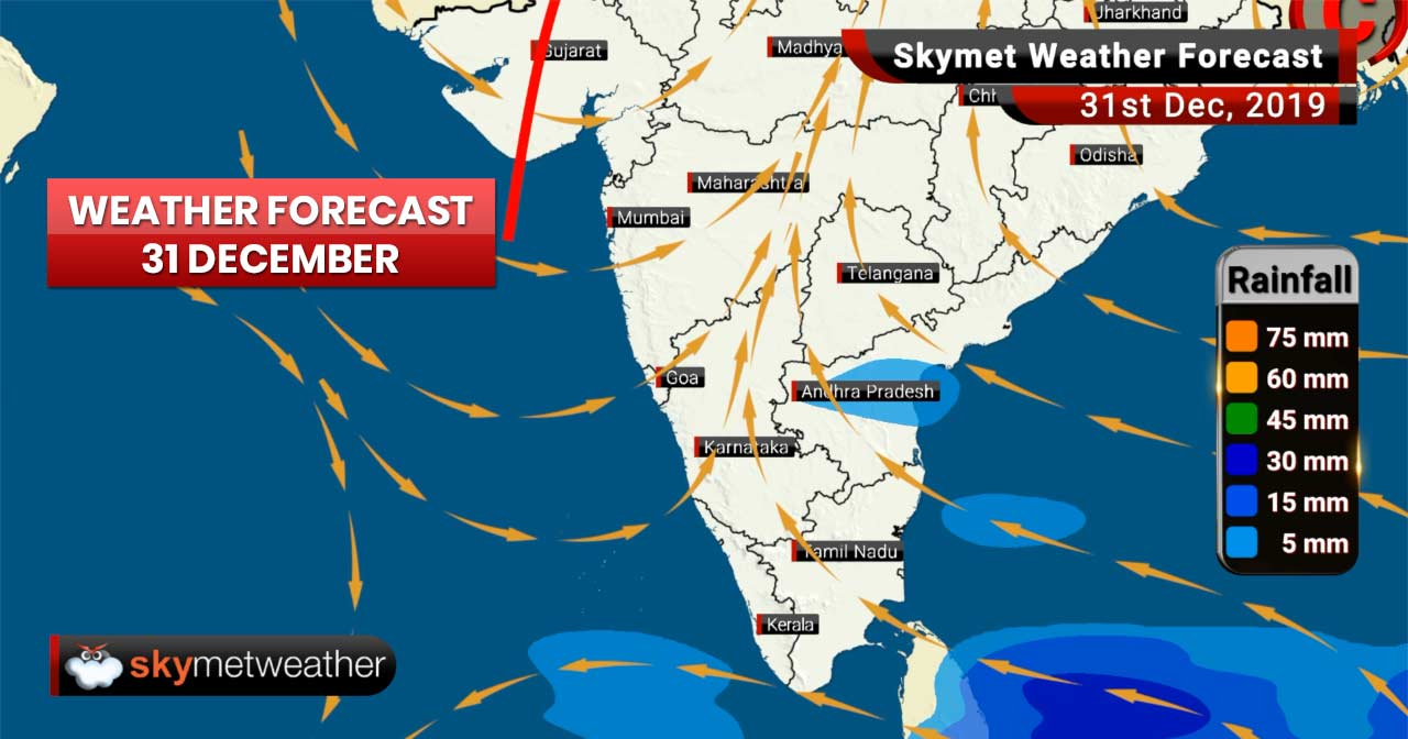 Weather Forecast Dec 31: Rain in Chennai, Hyderabad and Nagpur, dense fog to grip Delhi and NCR