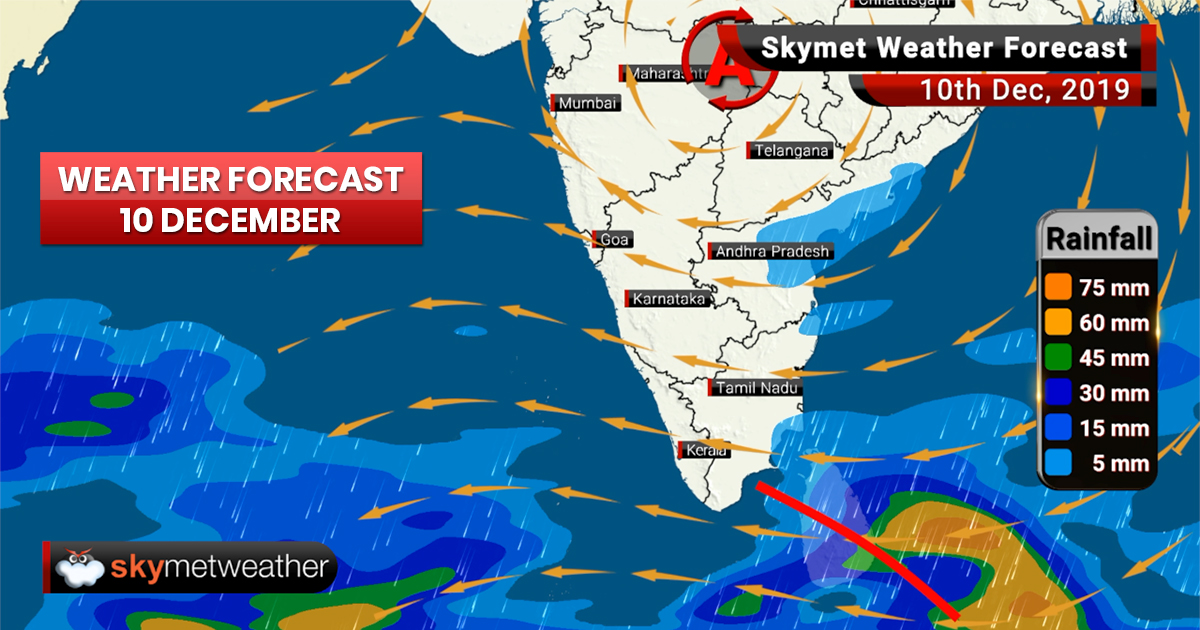 Weather Forecast Dec 10: Rain in Jammu and Kashmir, light spells in Chennai, Bengaluru