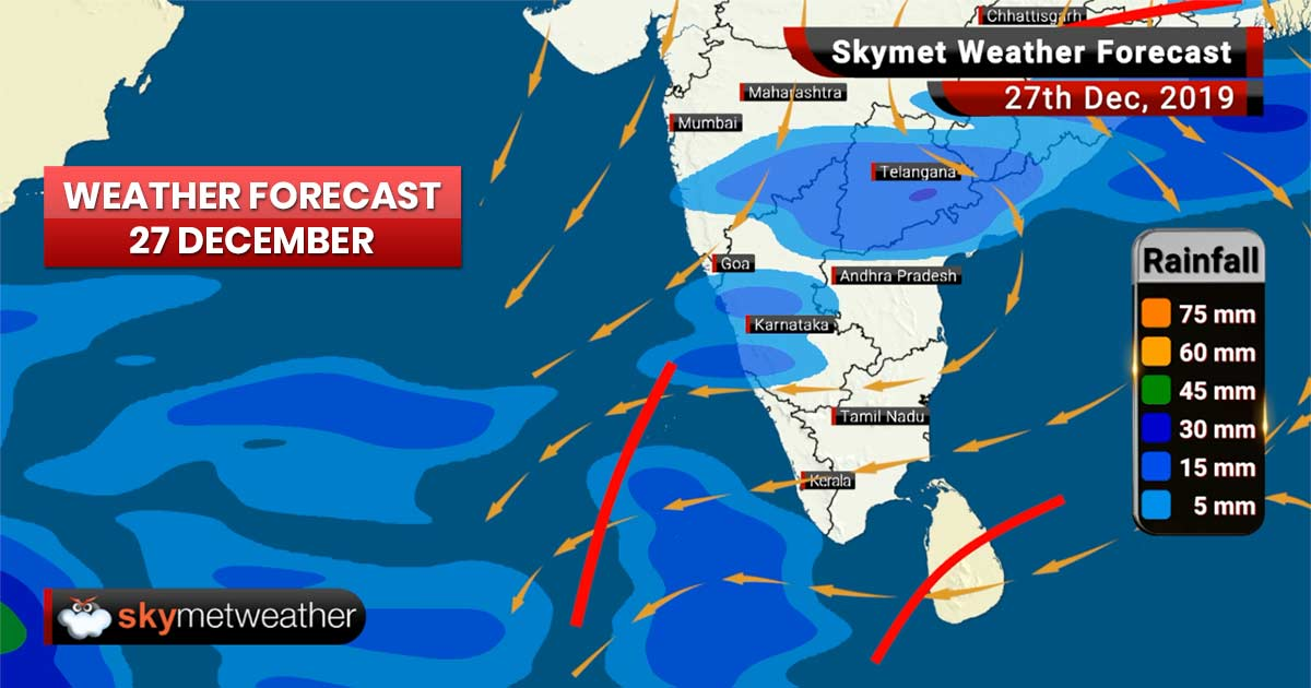Weather Forecast Dec 27: Rain in Kolkata, Hyderabad, Cold wave in Amritsar, Ludhiana and Alwar