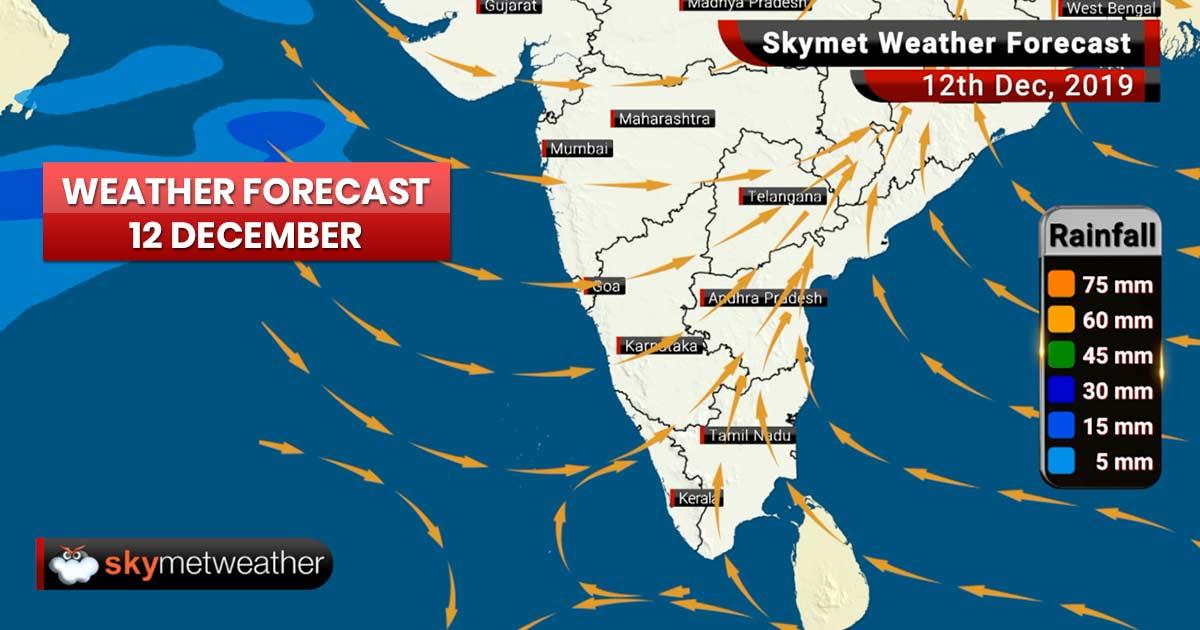 Weather Forecast Dec 12: Snowfall in Srinagar, Manali, good rain in Chandigarh, Ambala, Delhi, Meerut