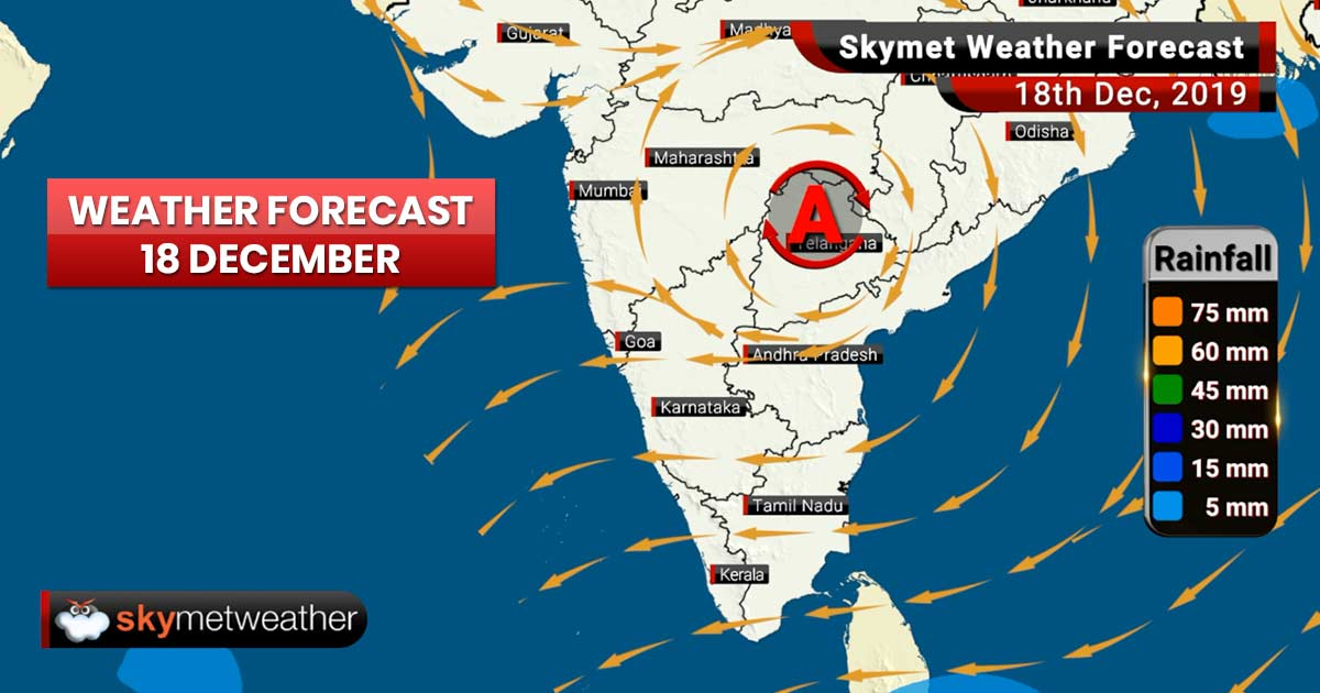 Weather Forecast Dec 18: Spell of rain, snow in Gulmarg, Dharamshala, Shimla, Day temp in Delhi to rise