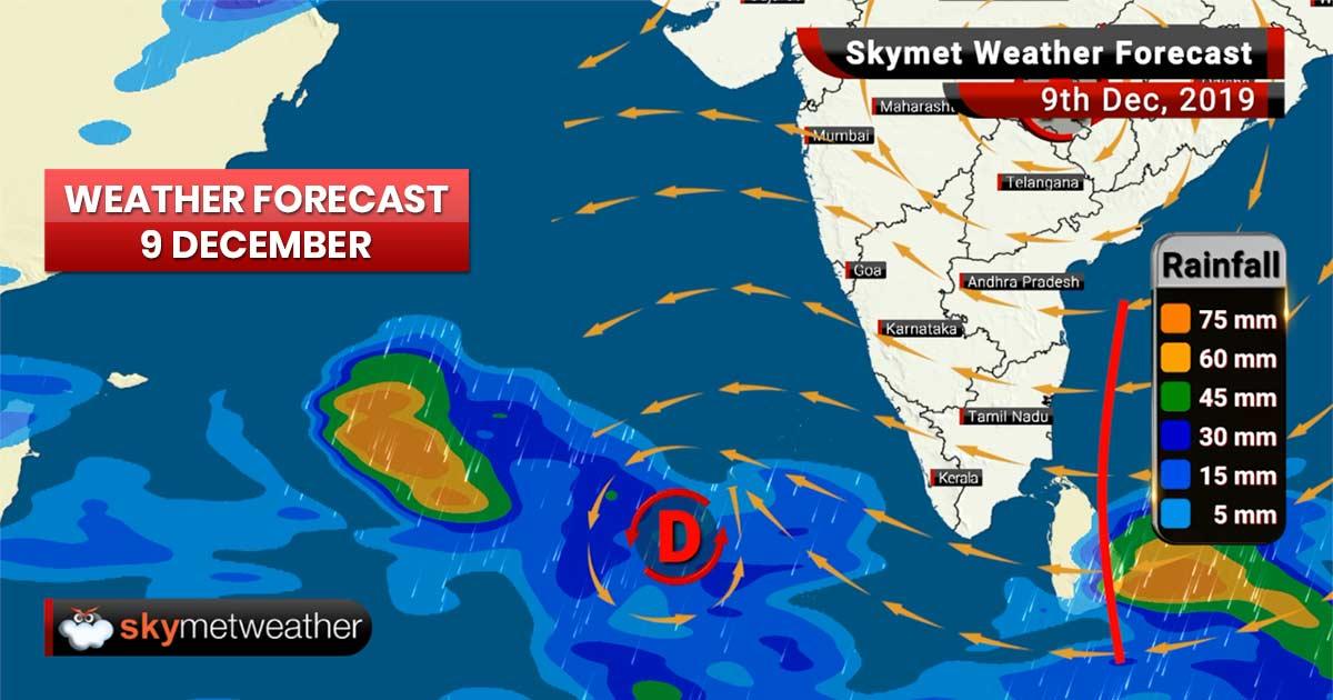 Weather Forecast Dec 9: Delhi pollution to worsen, rains to continue in Tamil Nadu, Kerala