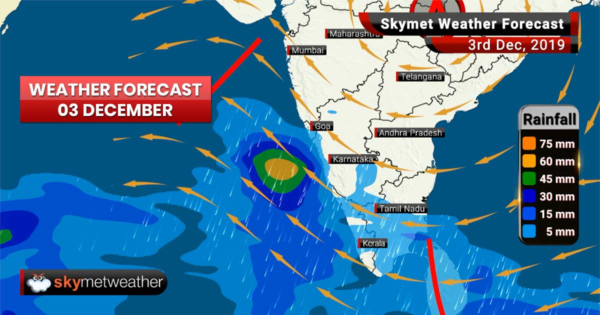 Weather Forecast Dec 3: Heavy rain in Ooty, Lakshadweep, further drop in minimums in Delhi