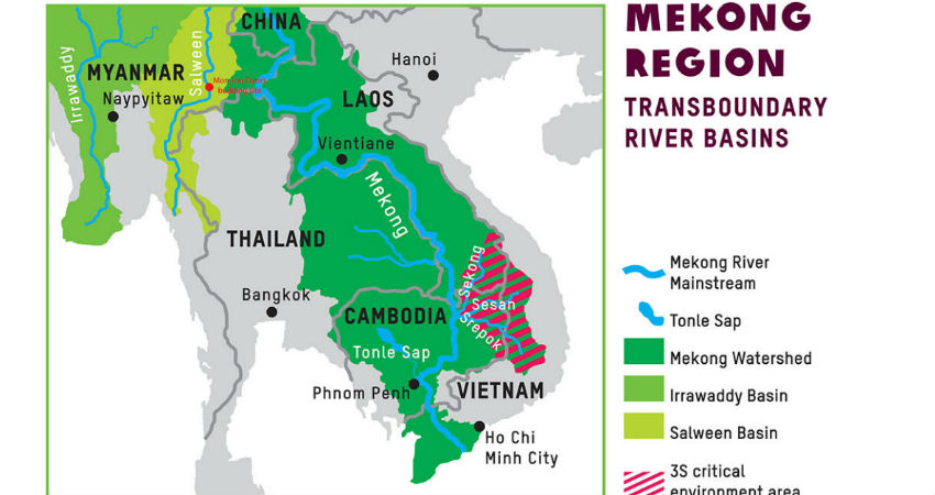 Drought in Mekong river