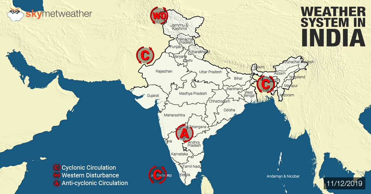 Weather Forecast for December 12 Across India