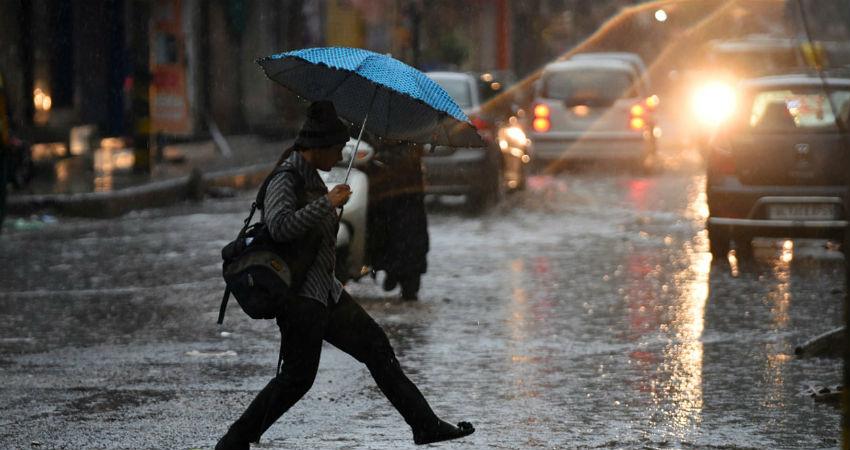 Winter rain in Delhi