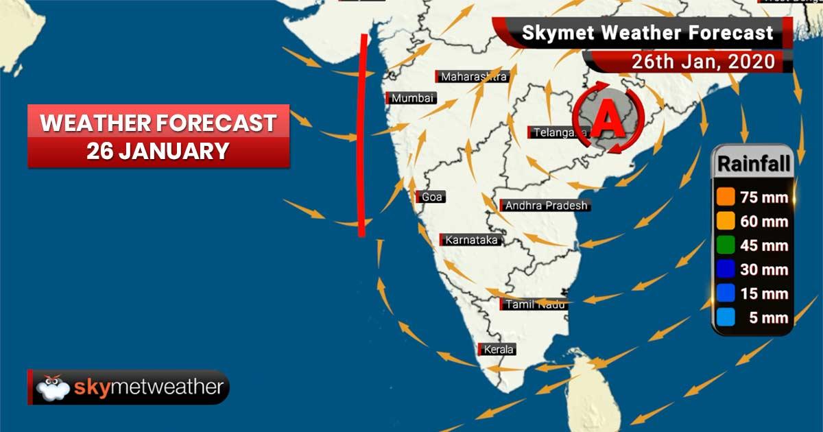 Weather Forecast for Jan 26: Rain and snow over Jammu and Kashmir, Himachal Pradesh, Uttarakhand.