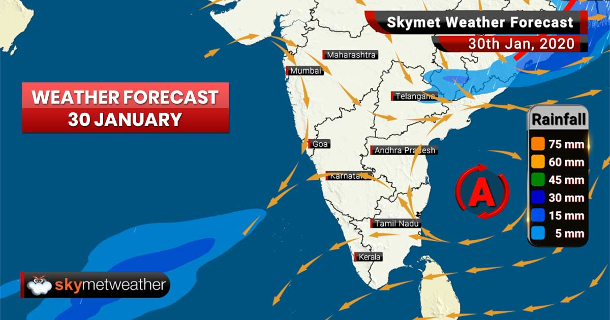 Weather Forecast for Jan 30: Rains ahead for West Bengal and Odisha