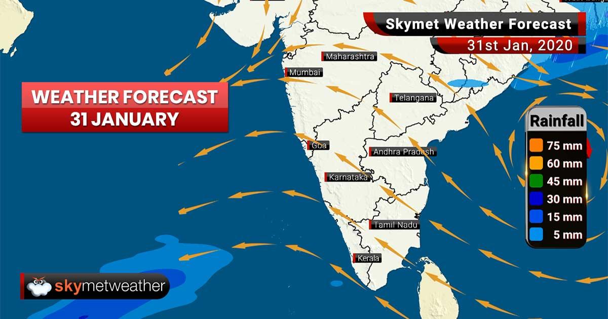 Weather Forecast for Jan 31: Rains ahead for Odisha, Assam, Arunachal Pradesh