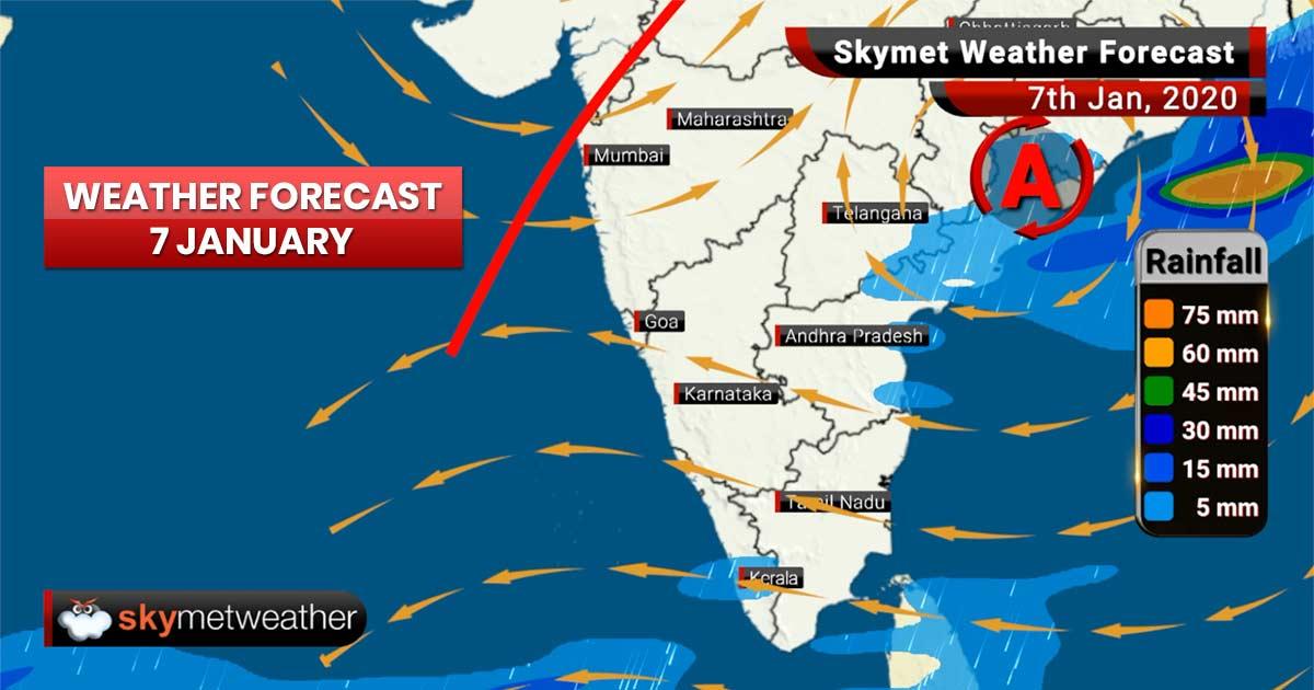 Weather Forecast Jan 7: Heavy rains likely in Delhi, Punjab, Haryana, light rain in Chennai