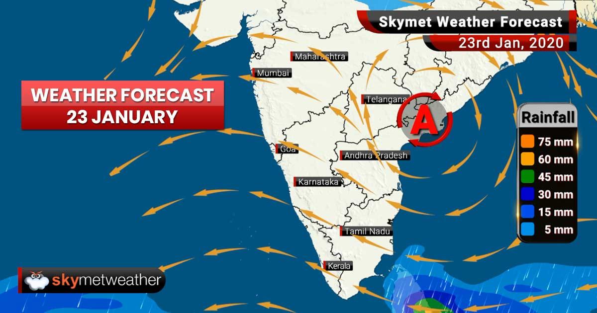 Weather Forecast Jan 23: Night to get colder in West Bengal, Odisha, Gujarat, Madhya Pradesh and Vidarbha, fog expected early morning