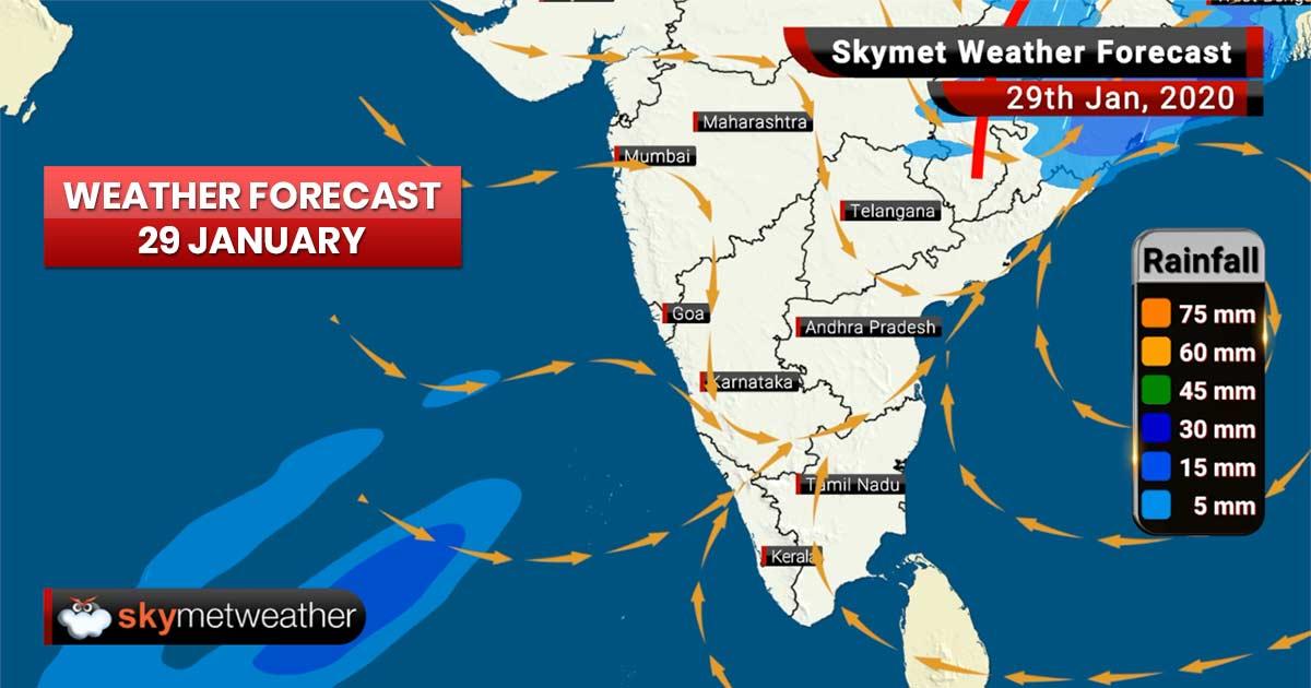 Weather Forecast for Jan 29: Heavy snow in hills, rains to lash Delhi, Kolkata, Varanasi, Nagpur