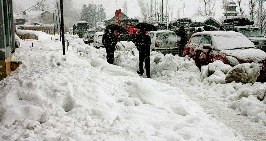 Snowfall in India
