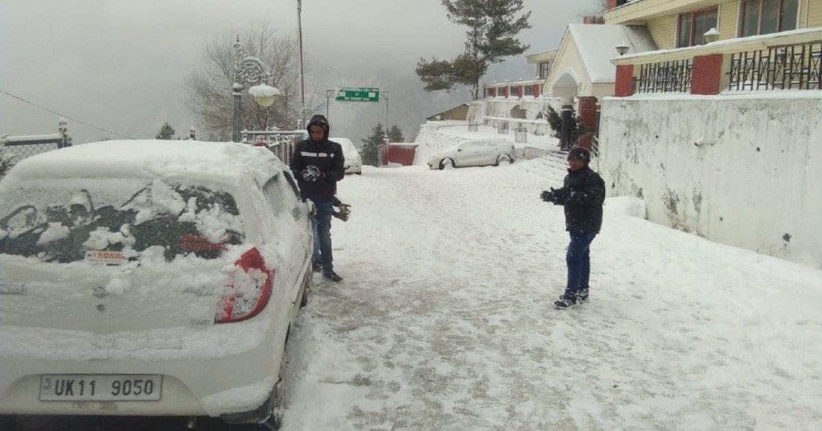 Uttarakhand snow