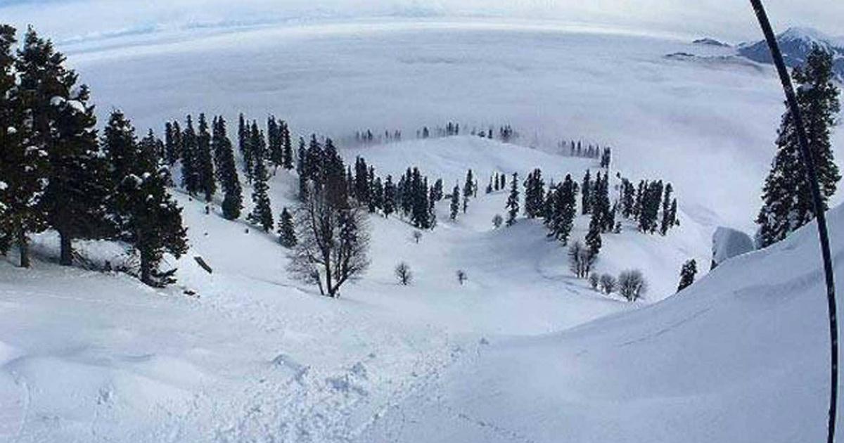 Hills snowfall