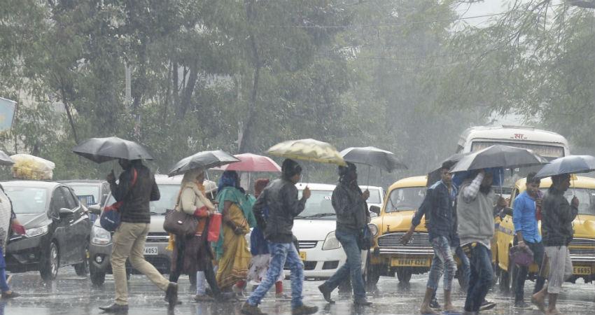 winter rain in Kolkata