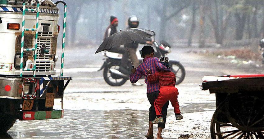 Delhi winter rain