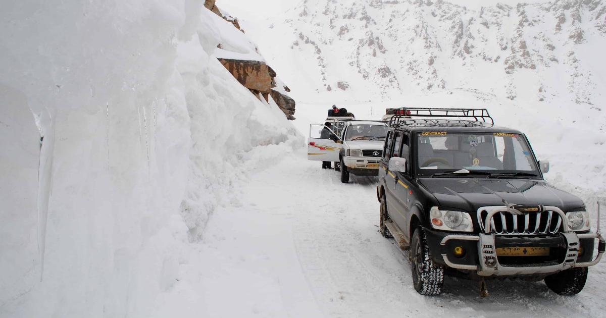 Ladakh snowfall