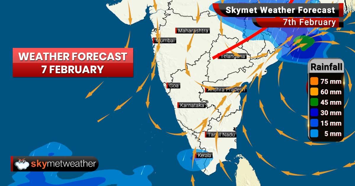 Weather Forecast for Feb 7: Rains ahead for Jammu and Kashmir, Himachal Pradesh, Delhi