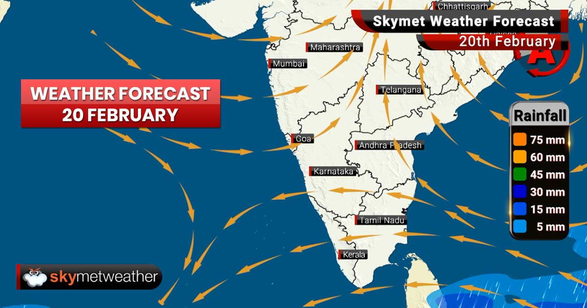Weather Forecast for Feb 20: Rain ahead for Delhi, warm and humid day in Kolkata, Mumbai, Delhi, Bengaluru