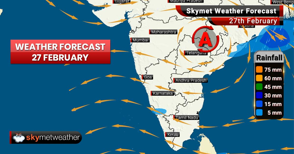Weather Forecast for Feb 27: Rains ahead for West Bengal, Himachal Pradesh, Jammu and Kashmir