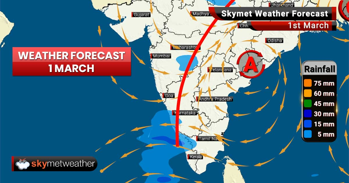 Weather Forecast for Mar 1: Rain and snow ahead for the hilly states of North, while maximums to drop in East India