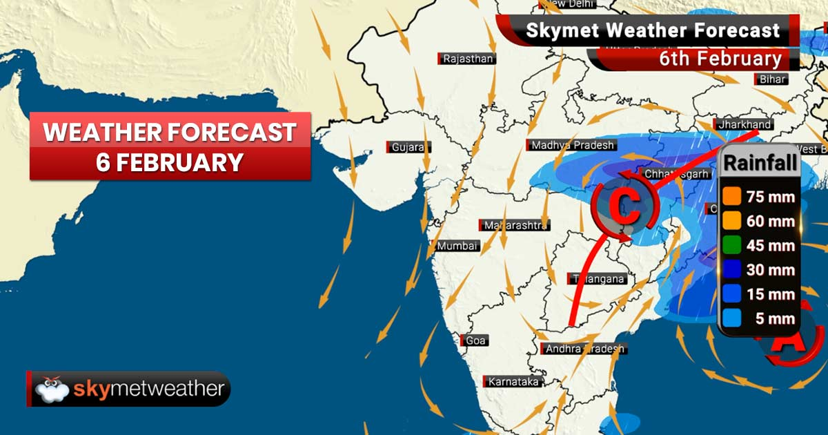 Weather Forecast for Feb 6: Rain in Odisha and Jharkhand, cold morning and night ahead for Mumbai and Pune