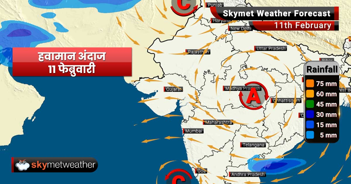 Weather Forecast Feb 11: Thundery activity in Marathwada, warm weather in Mumbai