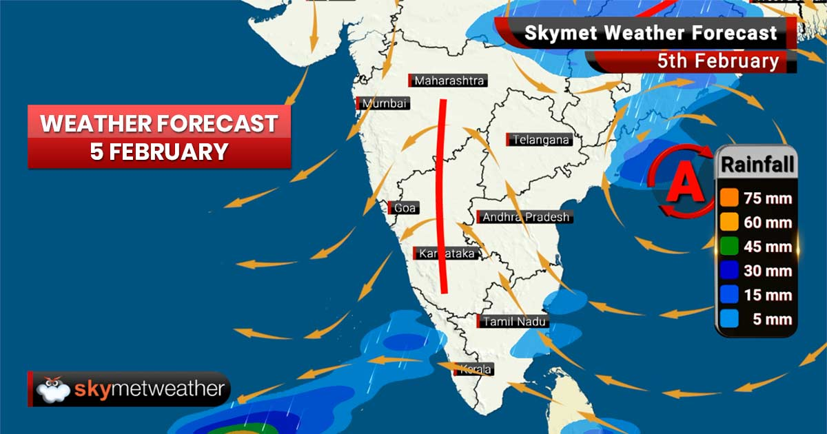 Weather Forecast for Feb 5: Rain, hailstorm in MP and Chhattisgarh, thunderstorm in Chennai