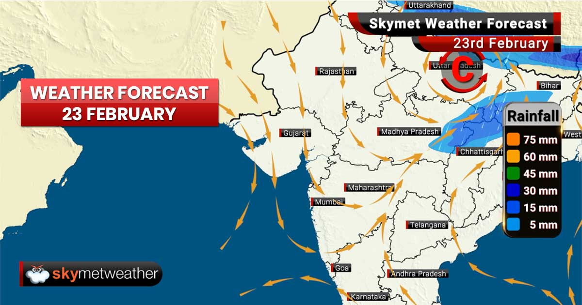 Weather Forecast for Feb 23: Rains ahead for West Bengal, Uttar Pradesh, Himachal