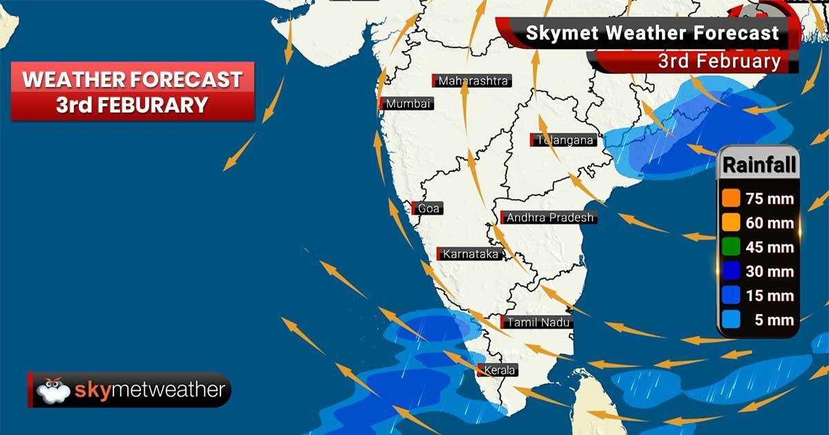 Weather Forecast for Feb 3: Chhattisgarh, Madhya Pradesh and Maharashtra to receive light rains