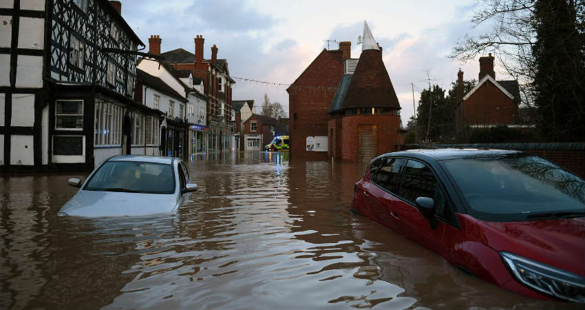 Record flood warnings issued in England as Storm Dennis hits